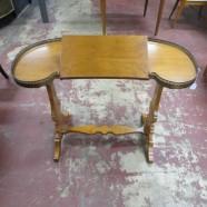 Vintage antique Italian kidney shaped mahogany desk c.1920 – $295