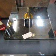 Vintage mid century modern Hollywood glam mirrored side table c.1970 – $250