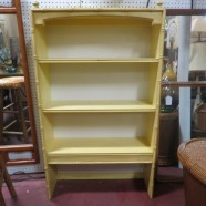 Vintage mid century modern faux bamboo bookcase c. 1970 – $79
