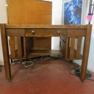 Vintage antique mission oak desk c. 1910 – $250
