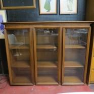 Vintage Danish modern style walnut bookcase c. 1960 – $395