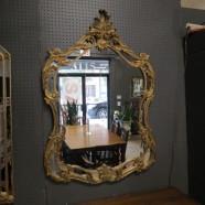 Vintage antique large ornate gold gilt framed mirror – $995