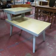 Sale! vintage mid century modern tiered side table c. 1960 – $49