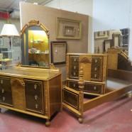 Vintage antique Elizabethan style walnut bedroom – $995