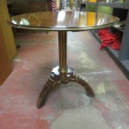 Vintage antique neoclassical pedestal table owned by Oprah Winfrey! – $1295
