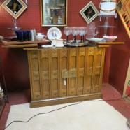 Vintage mid century modern walnut bar cabinet by Drexel – $375