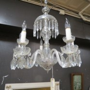 SALE! Vintage antique cut glass crystal chandelier – $347