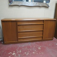 Vintage mid century modern walnut credenza/sideboard/dresser – $625