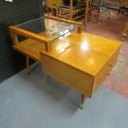 Vintage mid century modern walnut side table c. 1960. -$205