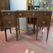 Vintage antique walnut desk – $465