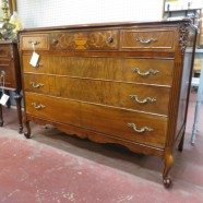 Vintage antique French walnut chest of drawers dresser – $530