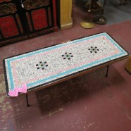 Vintage mid century modern tile top coffee table – $175
