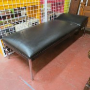 Vintage mid century modern chaise lounge – $395