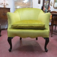 Vintage antique French style velvet lounge chair – $195
