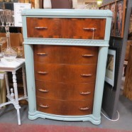 Vintage antique art deco 5 drawer chest – $249
