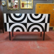 Vintage op art lacquered credenza/chest – $2400