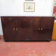 Vintage mid century modern master craft mahogany credenza – $1400