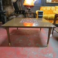 Vintage mid century modern square coffee table – $125