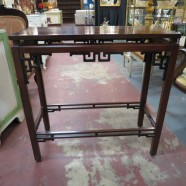 Vintage antique Chinese mahogany altar table/console table – $225
