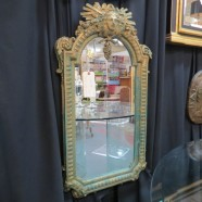 Vintage antique carved wood and gesso mirror – $169