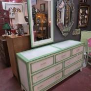 Vintage mid century modern shabby chic credenza/dresser/chest – $325