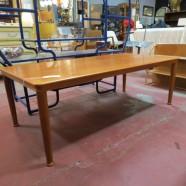 Vintage mid century modern vejle stole Danish teak coffee table – $365