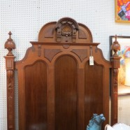 Vintage antique Victorian oak full sized bed – $895