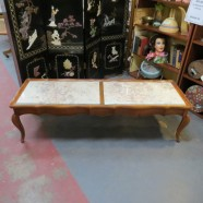 SALE! Vintage antique French style marble top coffee table – $175