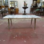 Vintage MCM marble top coffee table – $250
