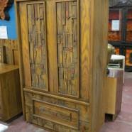Vintage midcentury modern Lane Mosaic Collection armoire – $895