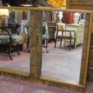 Vintage midcentury modern Lane Mosaic Collection mirror – $395