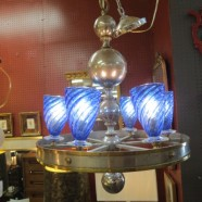 SALE! Vintage antique art deco 6 light chandelier – $665