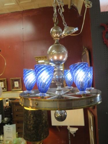 SALE! Vintage antique art deco 6 light chandelier – $665