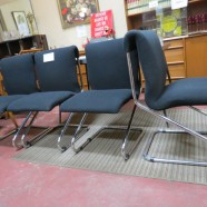 Vintage mid century modern set of 4 chrome chairs – $425