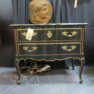Vintage antique Kindel French Louis XV style two drawer commode – $495