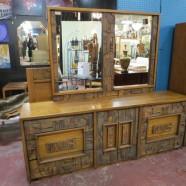 Vintage midcentury modern Lane Mosaic Collection credenza/dresser – $895