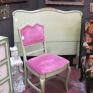 Vintage antique French style partial bedroom set – $175/2 pc set