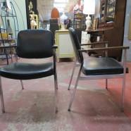 Vintage mid century modern chrome chairs – $38/each