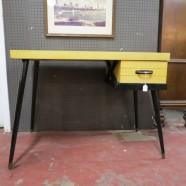 Vintage mid century modern blonde desk – $295