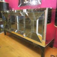 Vintage Hollywood glam mirrored credenza/chest/dresser – $895