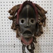 SALE! Vintage carved wood African Dan mask – $295