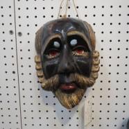 Vintage carved wood masquerade mask – $120