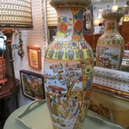 SALE! Vintage antique large Asian porcelain vase – $59
