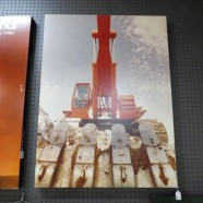 SALE! Vintage large format industrial tractor photo by Ron Nielsen – $150