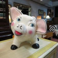 SALE! Vintage antique large ceramic piggy bank – $145