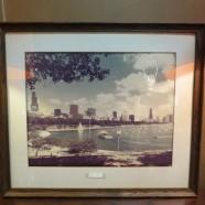 SALE! Vintage mid century modern Chicago harbor large format photo – $35