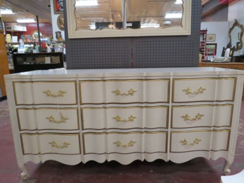 SALE! Vintage antique French style 9 drawer credenza/dresser – $350