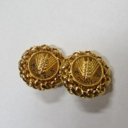 SALE! Vintage Chanel large gold tone earrings – $250