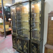 Vintage mid century modern Chinese style china/display cabinet – $450