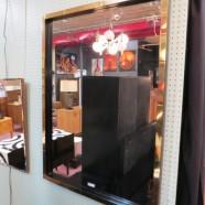 Vintage mid century modern large brass mirror – $395